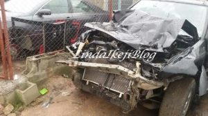 Accident: Popular Comedian, Emeka Smith Escapes Death [See Photos]